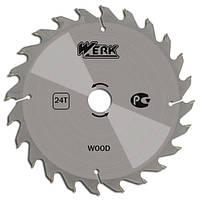 Диск пильный Werk по дереву 24Т 180х32 мм (WE109145)
