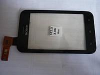 Тачскрин для Sony ST21i Xperia Tipo/ST21i2, черный, оригинал (Китай)