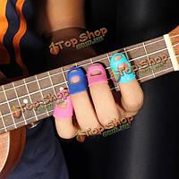 4в1  гитара пальца пленки силиконовые палец охранников для укулеле