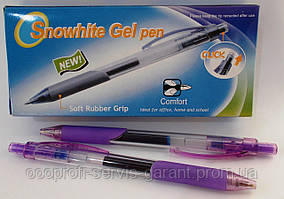 "Ручка гелева ""Snowhite"" G-012-1 синя"