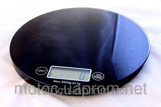 Весы настольные стеклянные круглые - ЧЕРНЫЕ Ultra Slim, фото 2
