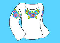 Заготівля для дитячої сорочки (0-3 роки) на дівчинку