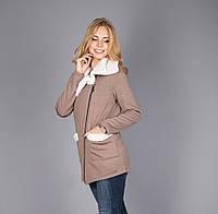 Молодежная женская куртка на меховой основе