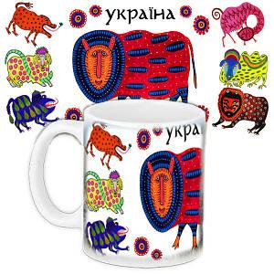 Кружка белая с рисунком Украина
