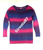 Стильный пуловер с переходом цвета №44