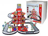 Игровой гараж 4 - уровневый с трассой и машинками Wader 44723
