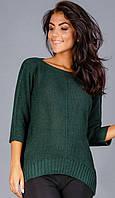 Молодежный женский стильный свитер необлегающий 2016