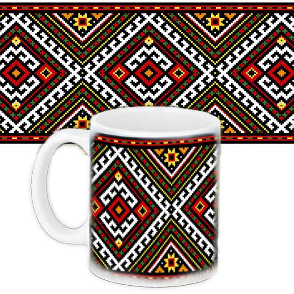 Кружка Украинский орнамент