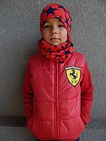 Детская Жилетка Ferarri  от 1 года-6 лет красная
