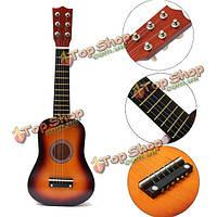 21-дюймов акустическая практика укулеле 6 струна гитары Mini игрушки для детей