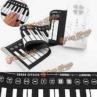 49 клавиш портативный гибкий рулон Rollin до электронное пианино клавиатуры