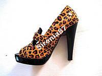 Шикарные леопардовые туфли