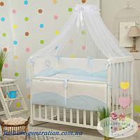 Детская постель для новорожденного в кроватку (комплект 7 предметов)