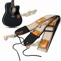Электрический бас акустической гитары приспосабливаемая хлопчатобумажная кожа ремня