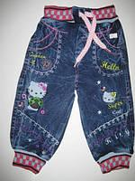 552 Джинсовые штаны для девочки Китти 1 год. (шт.)