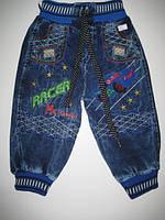 554 Джинсовые штаны с вышивкой для мальчика 1 год. (шт.)