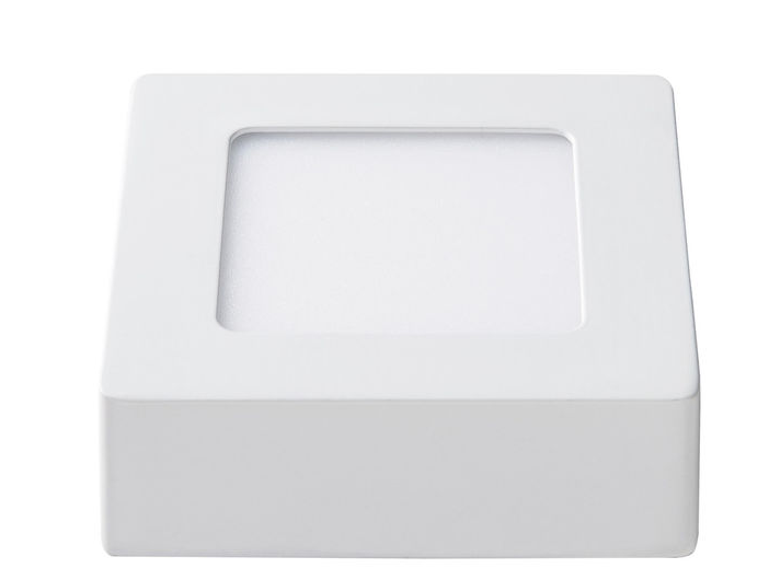 Светодиодный светильник Lezard  6W 6400К (120*120) квадратный накладной