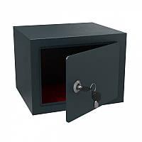 Сейф Арсенал T15: ключевое запирание двери, 2 ключа, коврик, анкера, корпус сталь, 15х20х17 см, 3 кг