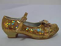 Туфли для девочки, золото