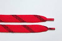 Шнурки плоские акрил (чехол) 15мм, красный+черный, фото 1