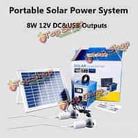 8w многофункциональный портативный Солнечная система питания