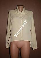 Стильная блузка с круглым воротничком №11
