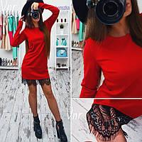 Женское  платье  французкое кружево