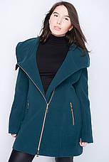Кашемировое пальто большого размера с капюшоном, фото 3