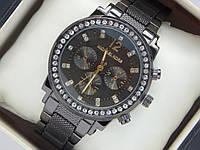 Женские кварцевые часы Michael Kors черного цвета с рифленым браслетом , фото 1