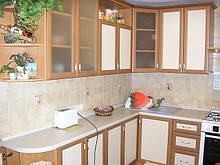 Кухня с фасадами из профиля АГТ, кухонный гарнитур