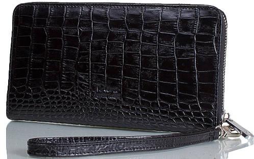 Стильная мужская борсетка из натуральной кожи KARYA (КАРИЯ) SHI0704-53-2KR черный