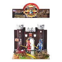 Набор рыцарей YT 1018 (72шт) замок, фигурки 2шт, лошадь,пушка,игровое поле, в кульке, 35-28-6см (шт.)