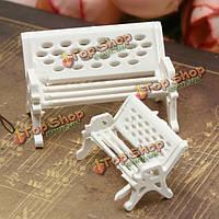 Мини-сад орнамент парк миниатюр сиденья скамейки ремесло фея кукольный