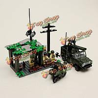 Просветите перехвата военных зон боевых действий серии блоков детей образовательные игрушки no.809