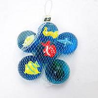 Мяч 4,5см W02-3182 попрыгунчик с рыбой 6шт.сетка /100/ (шт.)