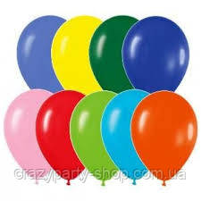 Воздушный шарик 10 дюймов ассорти