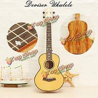 Deviser укулеле UK-LA6 24-дюймовые четыре гитара тигровые полосы