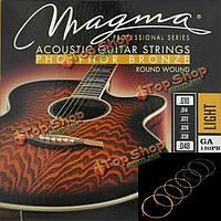 Магмы акустическая гитара струны Фосфорная бронза ga120pb ga140pb ga150pb