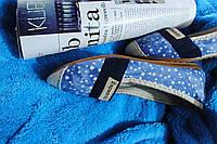 Балетки женские красивые голубые