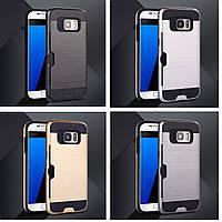 Бампер для Samsung Galaxy S7 Edge G935 (2016) - HPG Metal slot covre, алюминиевый, разные цвета