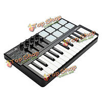 Tourcraft Mini 25 клавиш профессионального миди контроллер клавиатуры