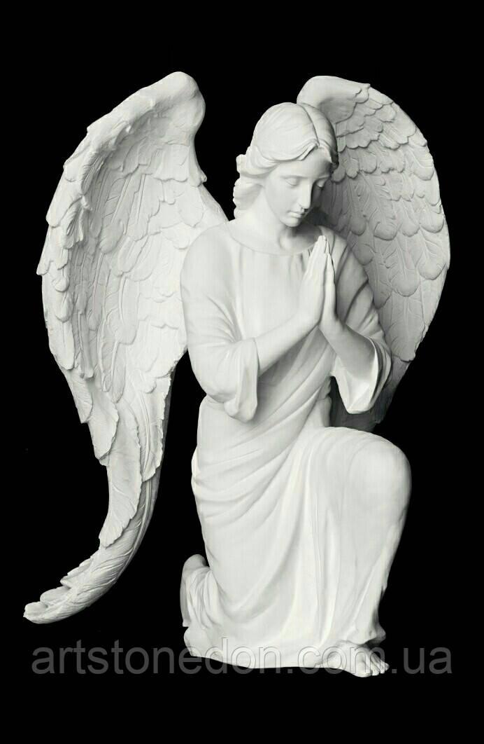 Мемориальные скульптуры ангелов на могиле. Скульптура ангела на могилу из полимера 130 см