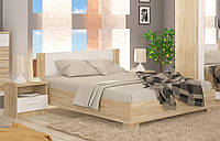 Кровать двухспальная 160 Маркос NEW (Мебель-Сервис)  2036х1664х852мм дуб санома