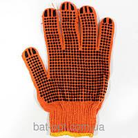 Перчатки трикотажные премиум (укреплены) оранжевые