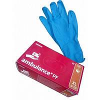 Перчатки резиновые Амбуланс М, L, XL синие