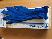Перчатки резиновые Хай Риск  М, L, XL синие