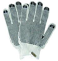 Перчатки трикотажные рабочие двухсторонняя точка белые