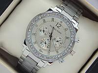 Женские наручные часы Michael Kors стального цвета со стразами, фото 1