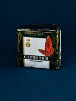Салфетка 24 * 24 40 шт Papirella белая 1-слойная