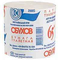 """Туалетная бумага рулонная серая 65 м """"Обухов"""""""